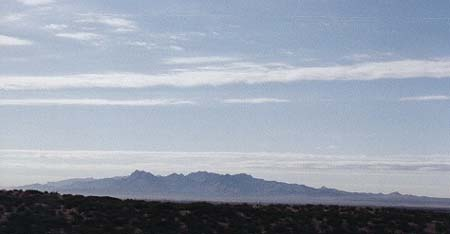 The mountains outside El Paso